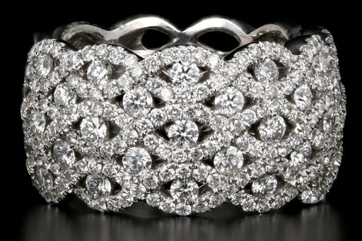 Modern 18K White Gold 2.26 Carat Diamond Band - Queen May
