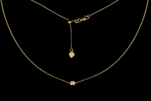 New 14K Gold Diamond Pendant Necklace - Queen May