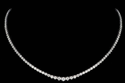 Modern Platinum 3.01 Carat Diamond Necklace - Queen May