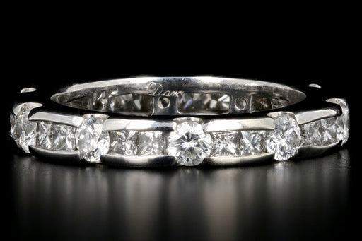 Modern 14K White Gold 2 CTW Diamond Eternity Band - Queen May