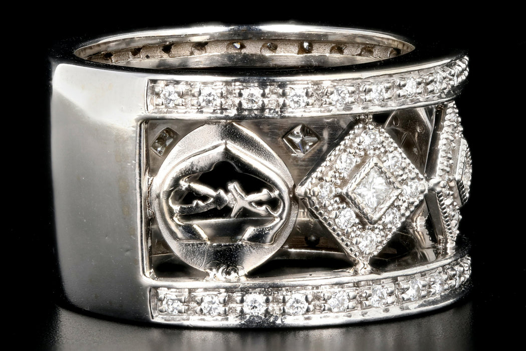 Modern Charriol 18K White Gold .73 Carat Diamond Band - Queen May