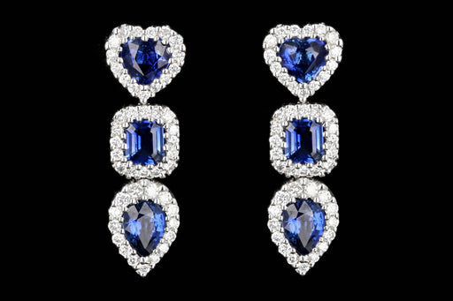 Gregg Ruth 18K White Gold Sapphire and Diamond Earrings - Queen May