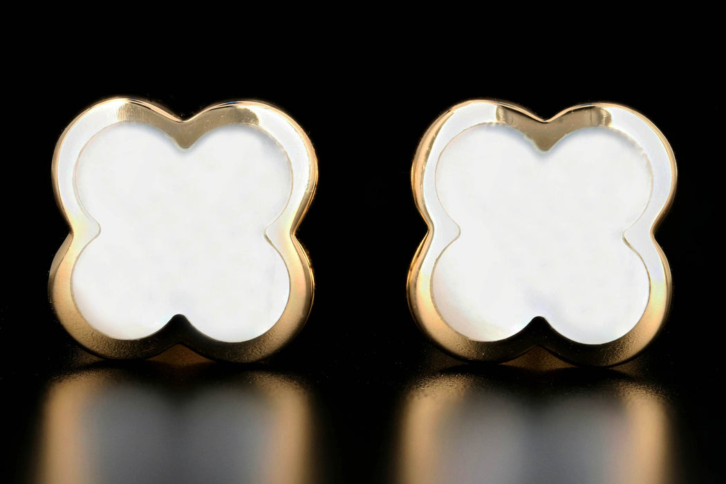 Van Cleef & Arpels Mother of Pearl Alhambra Earrings - Queen May