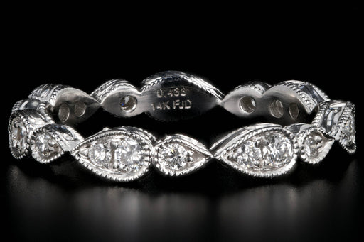 New 14K White Gold .44 Carat Diamond Eternity Band - Queen May