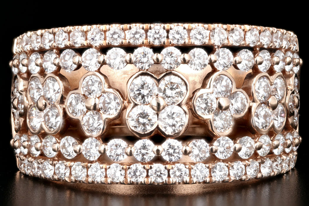 Modern 14K Rose Gold 1.25 CTW Diamond Cigar Band - Queen May