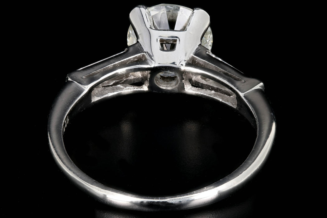 Art Deco Platinum 1.81 Carat Old European Cut Diamond Engagement Ring GIA Certified - Queen May