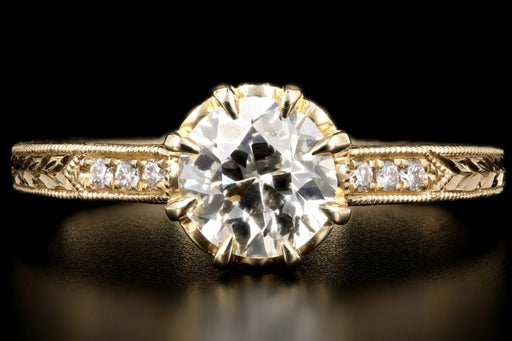 14K Yellow Gold .81 Carat Diamond Ring