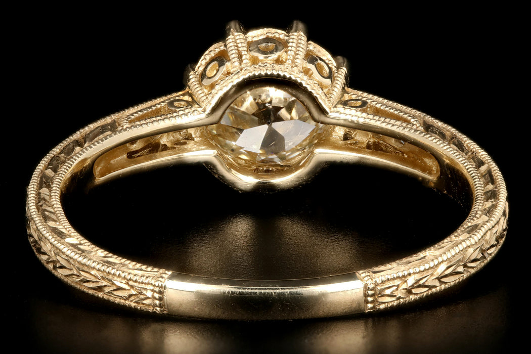 14K Yellow Gold .81 Carat Diamond Ring - Queen May