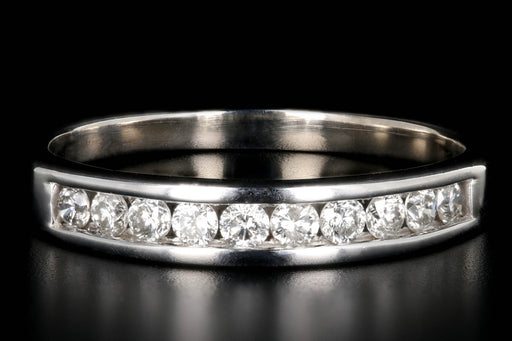 Modern 14K White Gold .30 Carat Diamond Half Band - Queen May