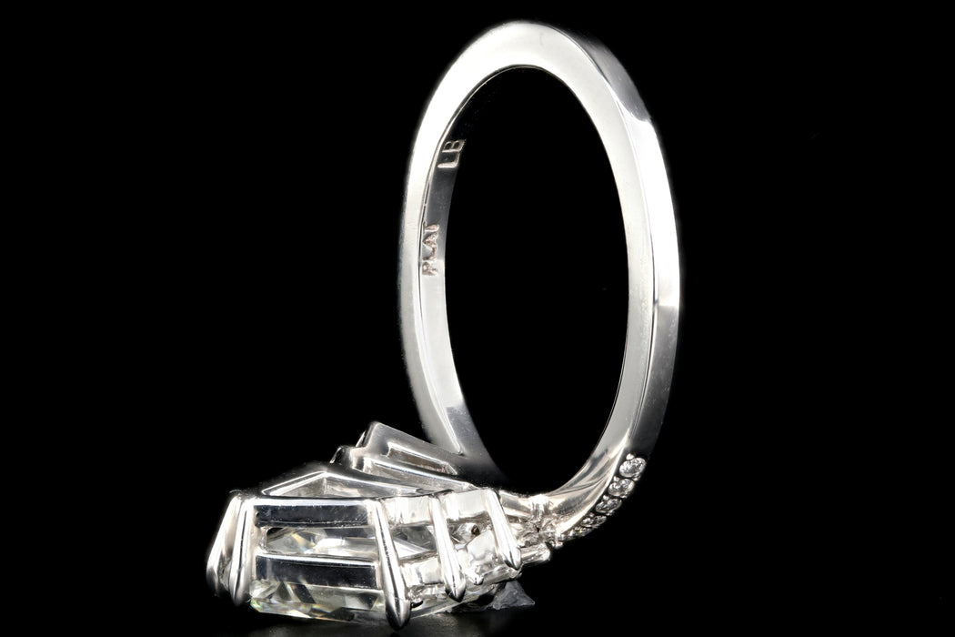 """The Gatsby"" Platinum 2.49 Carat Kite/Lozenge Cut Diamond Engagement Ring - Queen May"