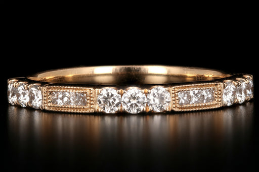 Modern 18K Rose Gold .45CTW Diamond Band - Queen May
