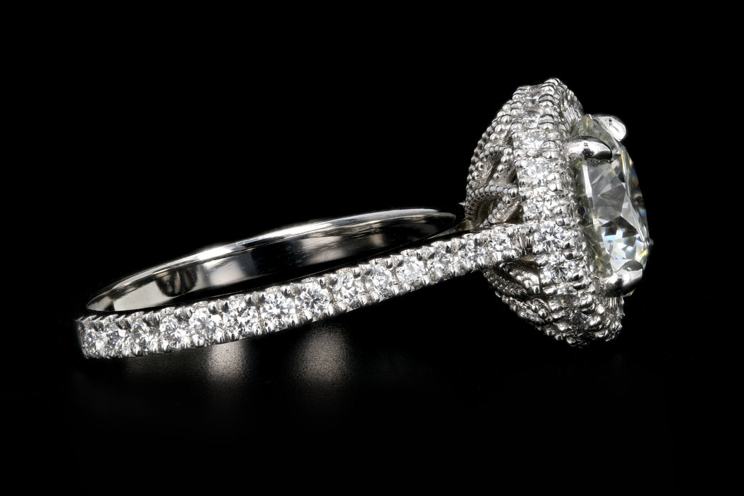 New Platinum 2.29 Carat Round Brilliant Cut Diamond Engagement Ring GIA Certified - Queen May