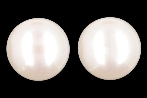 New 14K Yellow Gold 10-11 MM Freshwater Cultured Pearl Earrings - Queen May