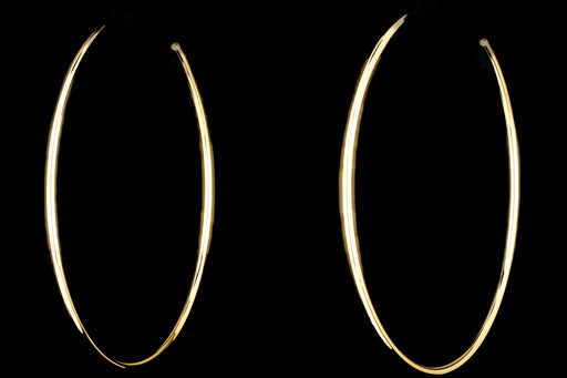 New 14K Gold Open Hoop Earrings - Queen May