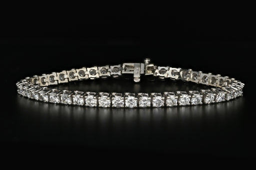 14K White Gold 7.5 Carat Diamond Tennis Bracelet