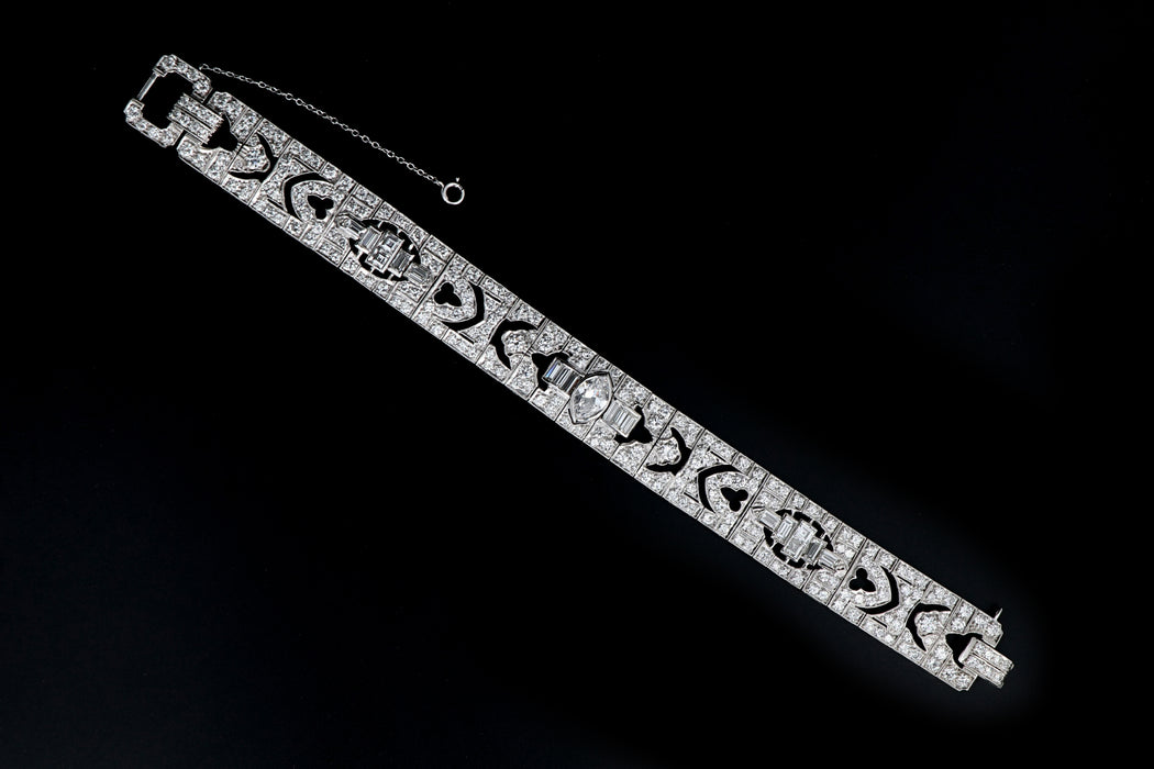 Art Deco Platinum 14 Carat Diamond Total Weight Bracelet - Queen May
