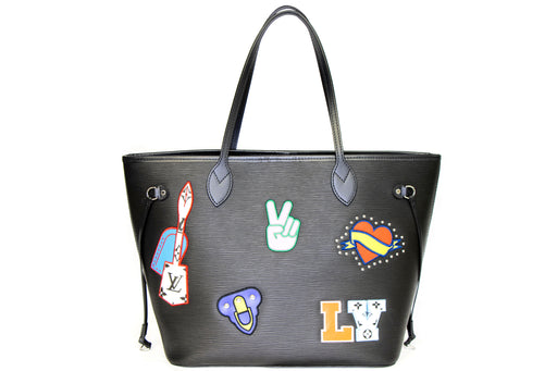 Louis Vuitton Epi Stickers Neverfull MM Black - Queen May