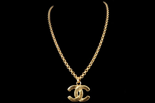 Vintage Chanel Logo Necklace - Queen May