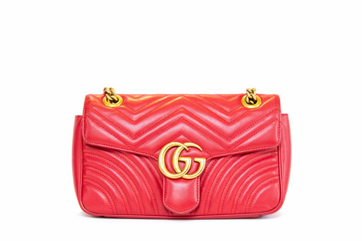 Gucci GG Marmont Red Medium Matelasse Bag - Queen May