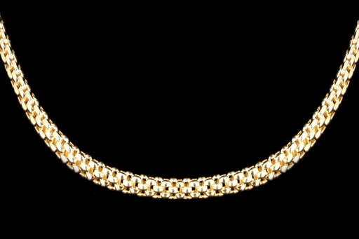 Modern Fope 18K Yellow Gold Popcorn Chain Necklace - Queen May