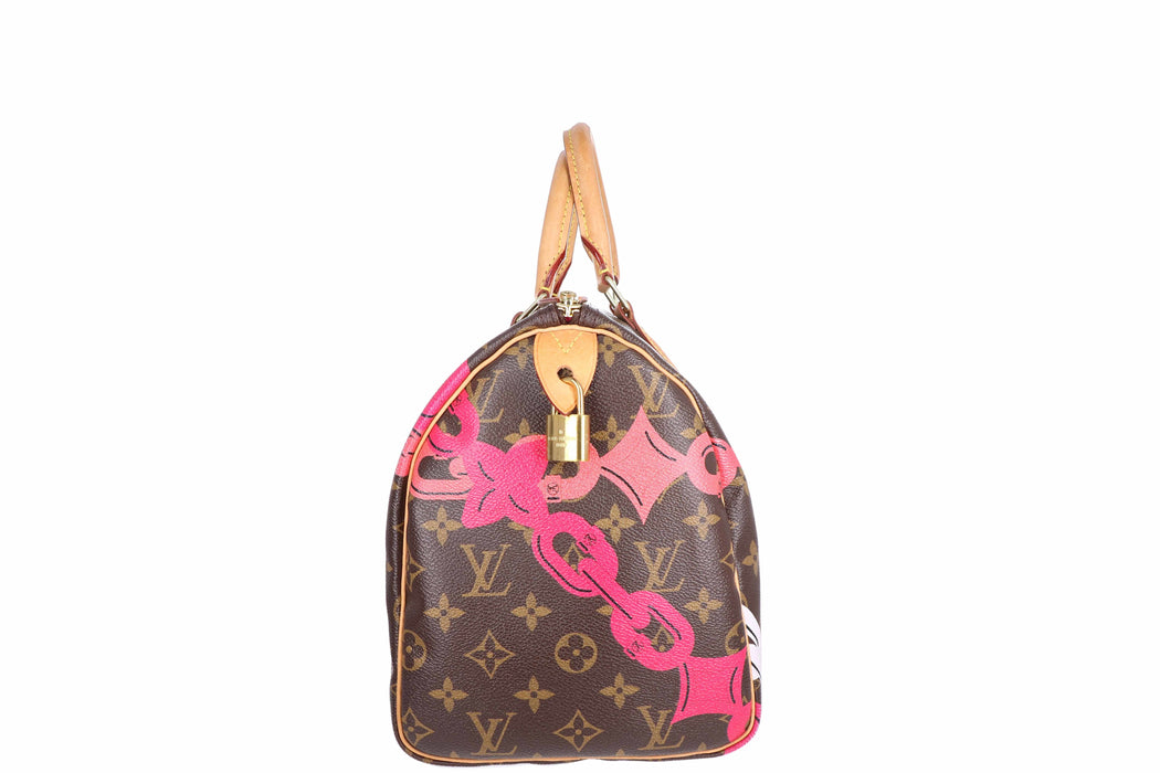 Louis Vuitton Monogram Chain Flower Speedy 30 - Queen May