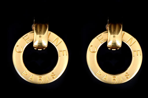 Celine Vintage 1990s Statement Earrings - Made in Italy - Queen May