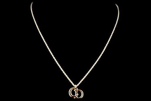 Vintage Christian Dior Logo Necklace - Queen May