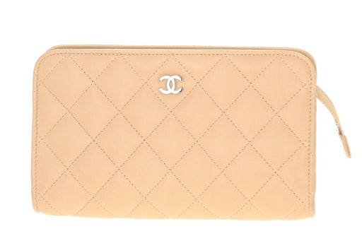 Chanel Camel Leather Cosmetic Bag/Clutch - Queen May