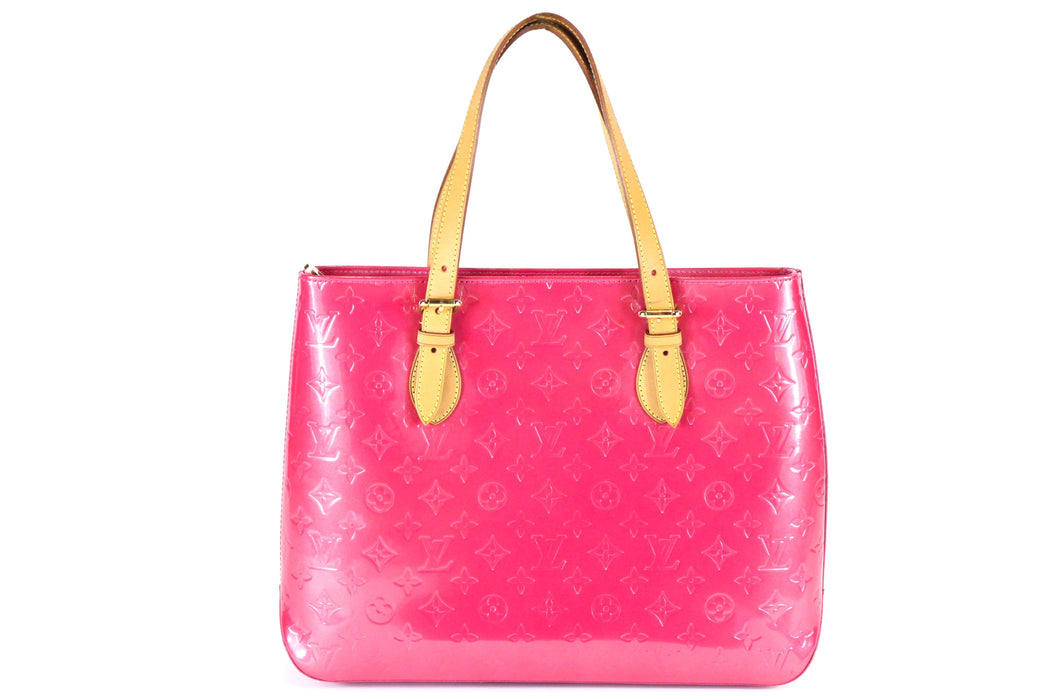 LOUIS VUITTON  Vernis Pink Brentwood Tote - Queen May