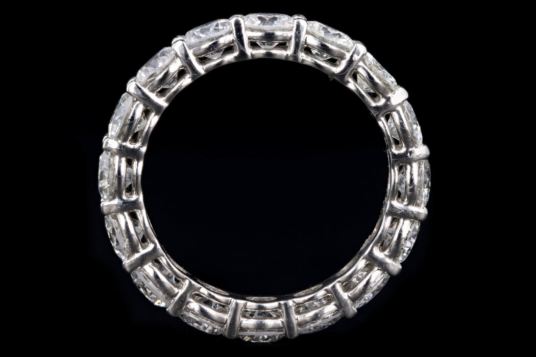 New Platinum 5 Carat Round Brilliant Diamond Eternity Band - Queen May
