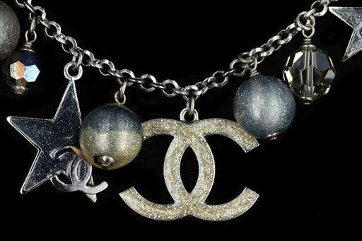 Chanel Ruthenium Celestial Moon & Star Necklace - Queen May
