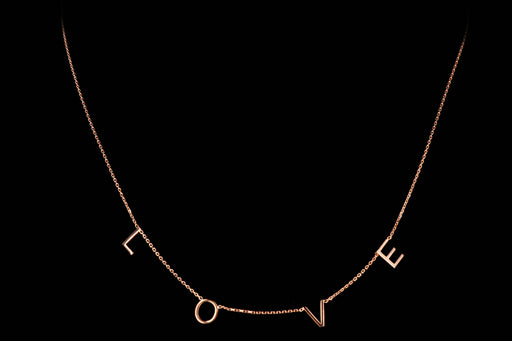 New 14K Gold Love Station Necklace - Queen May