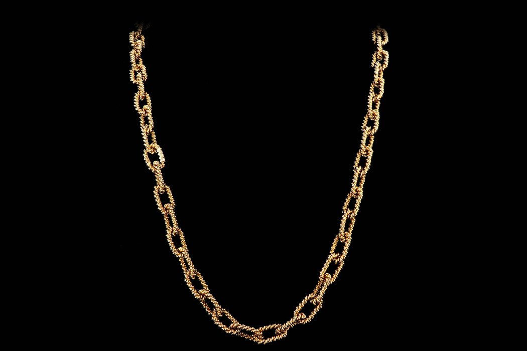 Vintage Tiffany & Company 14k Yellow Gold Link Necklace - Queen May
