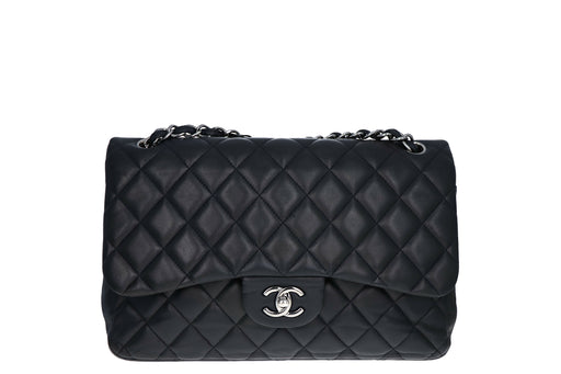 Chanel Lambskin Jumbo Double Flap Black - Queen May