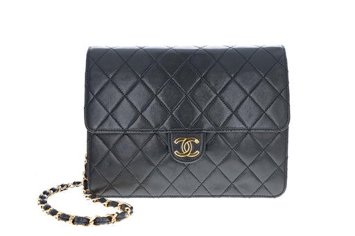 Vintage Chanel Lambskin Medium Classic Square Single Flap Bag - Queen May