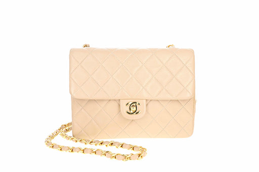 Rare Vintage Chanel Mini 2.55 Classic Square Quilted Lambskin Single Flap Bag - Queen May