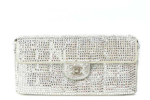 Chanel Vintage Strass E/W Crystal Flap Bag - Queen May