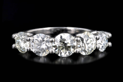 New Platinum 2.92 Carat Diamond 5 Stone Ring - Queen May