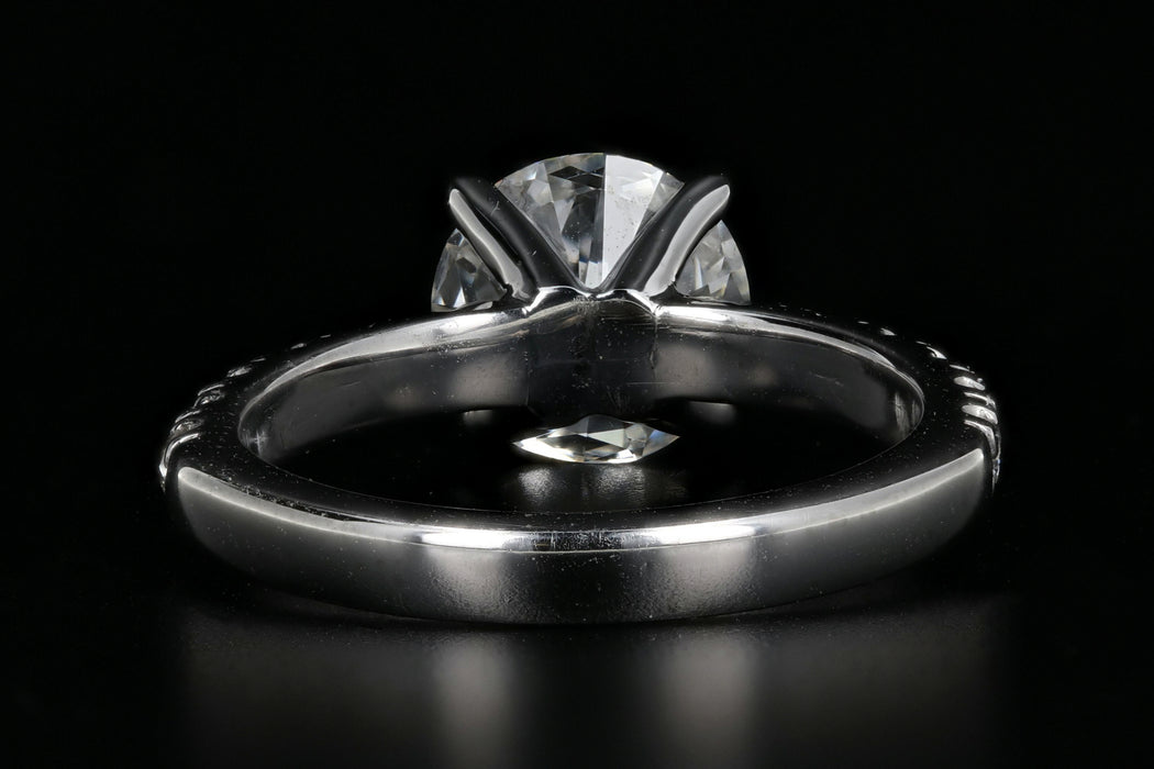 Modern Platinum 1.50 Carat Diamond Ring GIA Certified - Queen May