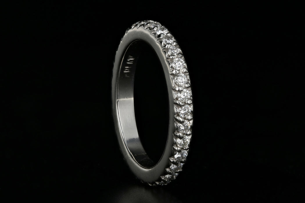 Modern Platinum .50 Carat Diamond Eternity Band - Queen May