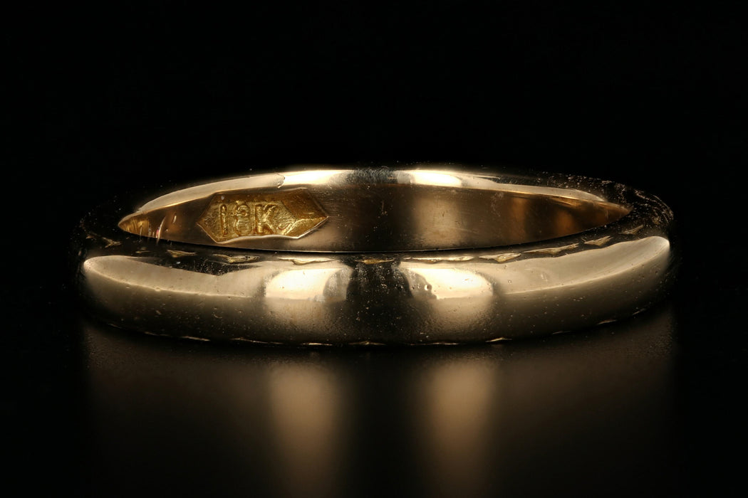 Edwardian 18K Yellow Gold Band - Queen May
