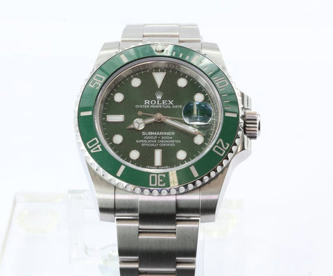 Rolex Submariner Green Dial Steel Oyster Perpetual Date Automatic Mens Watch