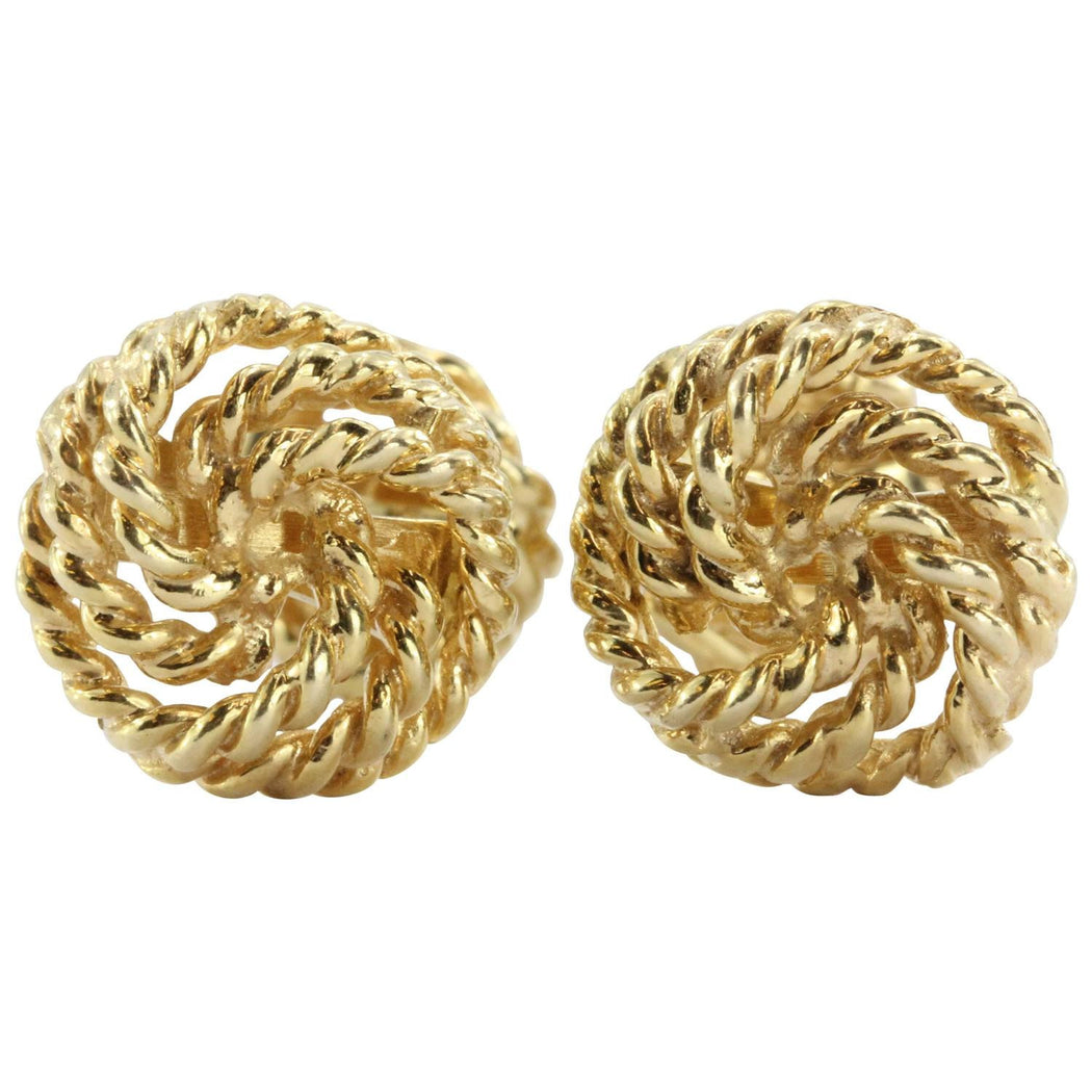 Vintage Twisted Knot Rope 14K Cufflinks — Queen May