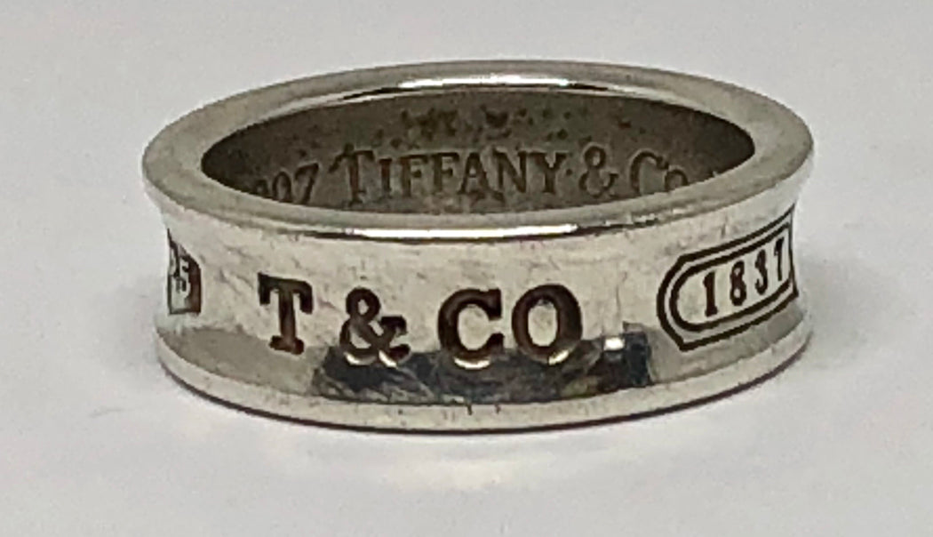 98f33185401f2 Tiffany & Co Sterling Silver Concave 1837 Band Ring Size 7.5 — Queen May