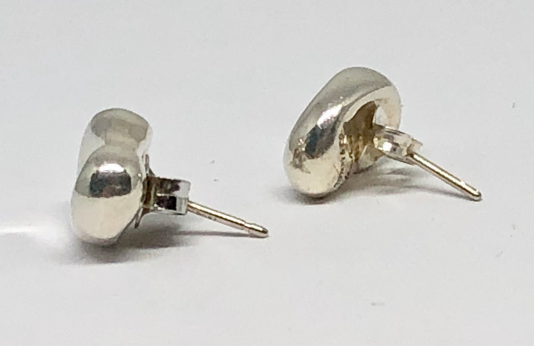 799b17a24 ... Tiffany & Co Sterling Silver Elsa Peretti Bean Stud Earrings - Queen ...
