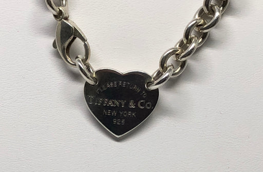 Tiffany & Co Sterling Silver Please Return To Heart Tag Necklace 15.25""