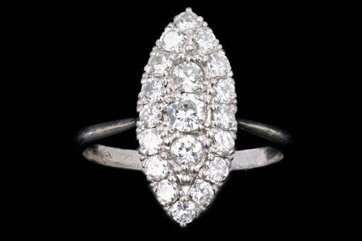 Modern Platinum .75 Carat Round Brilliant Cut Diamond Ring - Queen May