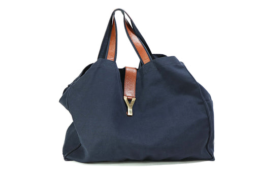 Yves Saint Laurent Navy Canvas Tote - Queen May