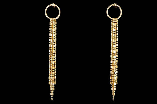 New 14K Yellow Gold Drop Earrings - Queen May