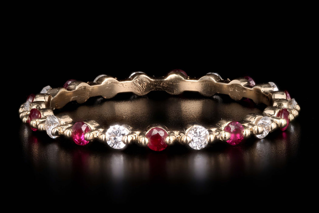 New 14K Gold Gemstone & Diamond Stackable Band - Queen May